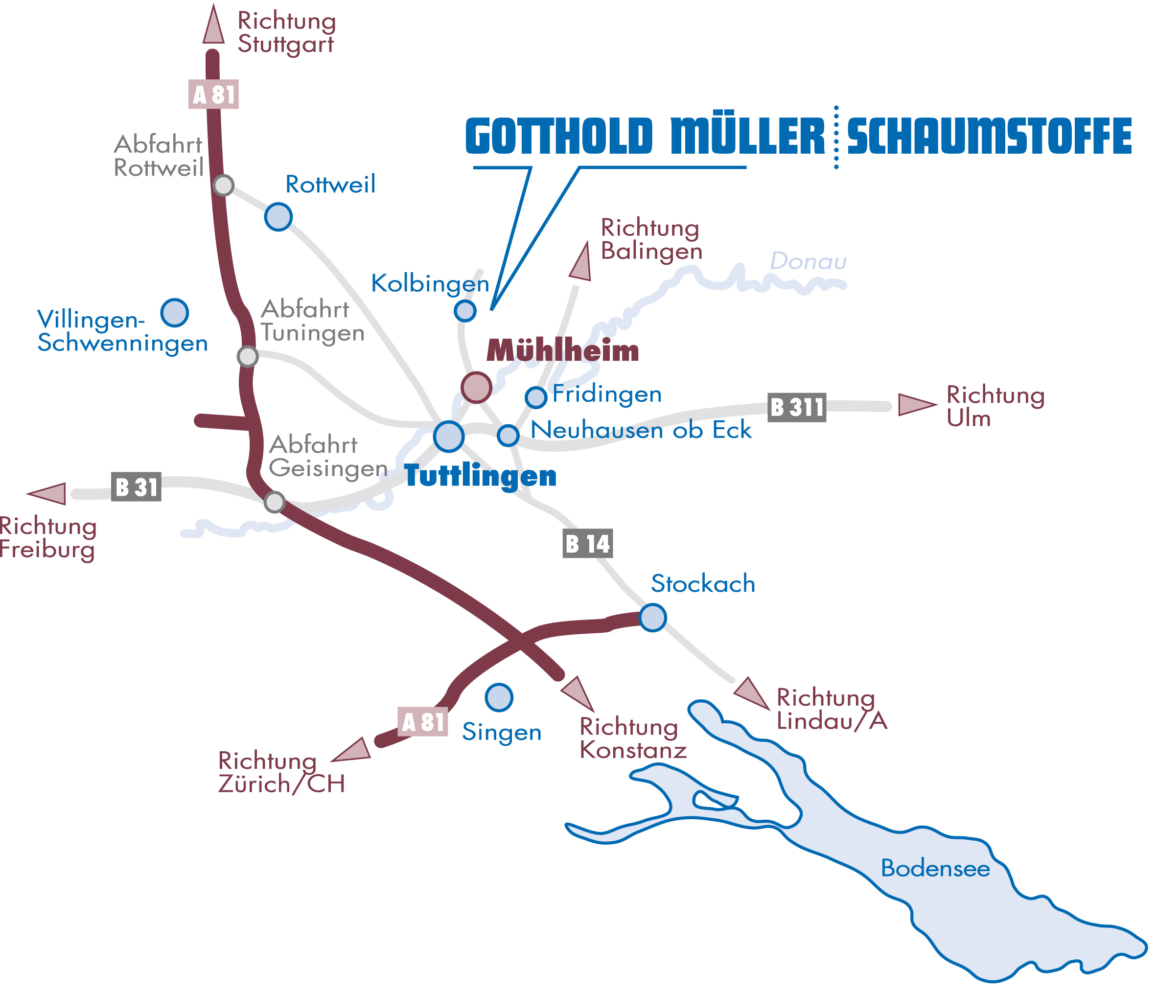 Standort - Gotthold Müller Schaumstoffe